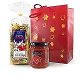 Pasta-Geschenkset Weihnachtsnudeln mit Sugo all Arrabbiata -