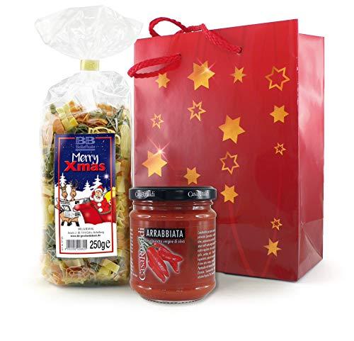 Pasta-Geschenkset Weihnachtsnudeln mit Sugo all Arrabbiata