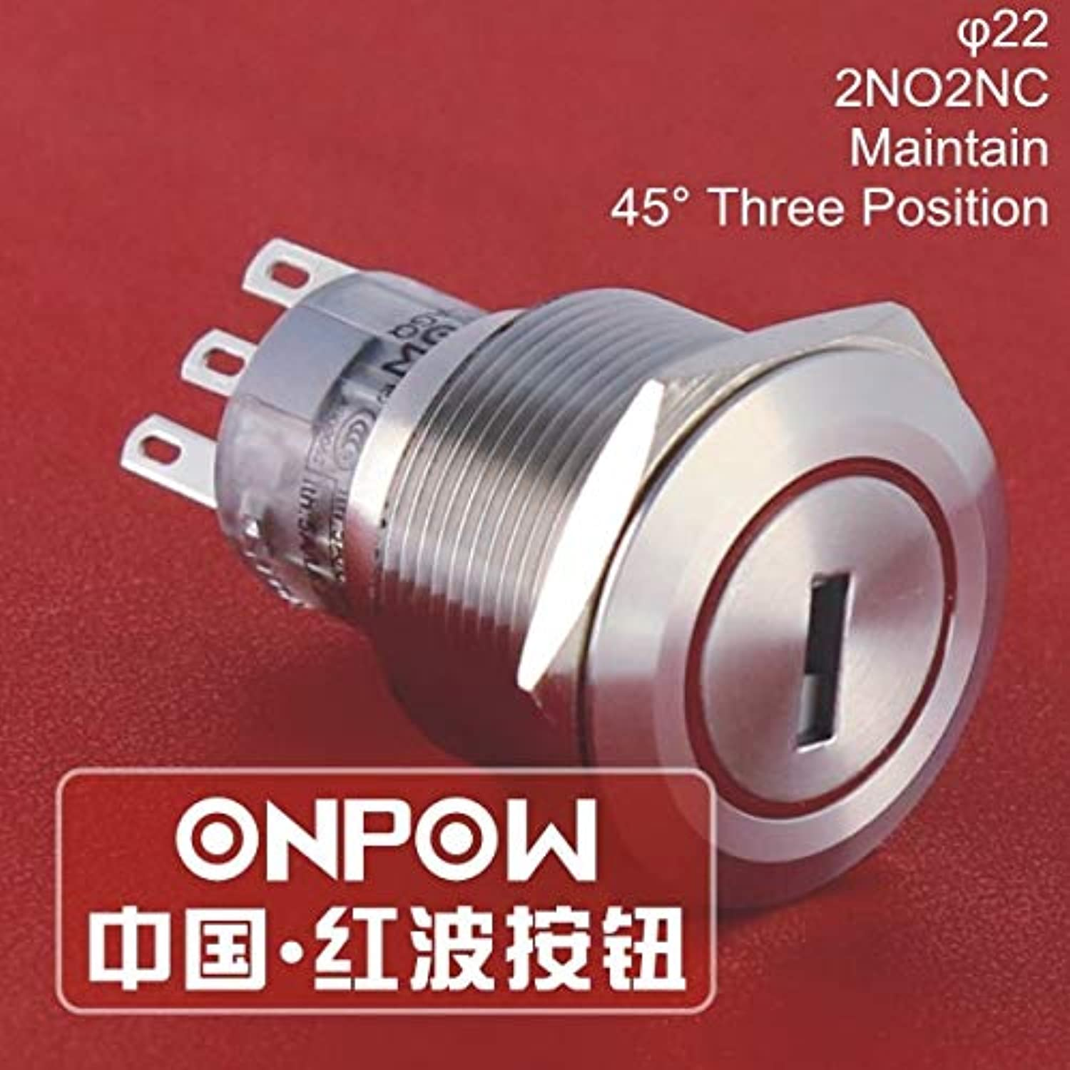 22mm Three posistion Maintain 2NO2NC Stainless Steel Electronic Key redary Switch with Keys (GQ22A22Y 31 S) CE, RoHS