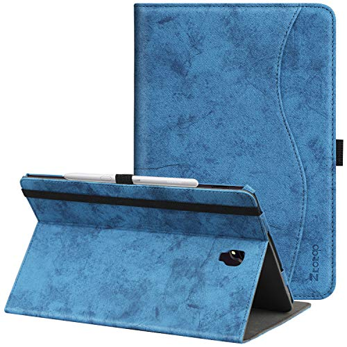 ZtotopCase Case for Samsung Galaxy Tab S4 10.5 - Premium Leather Folio Cover for Samsung Tablet S4 10.5 inch (SM-T830/T835/T837) 2018 Released,Auto Wake/Sleep, Card Slots,Mottled Blue