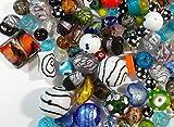 LAMPWORK R84 - Cuentas de cristal (500 g), color plateado