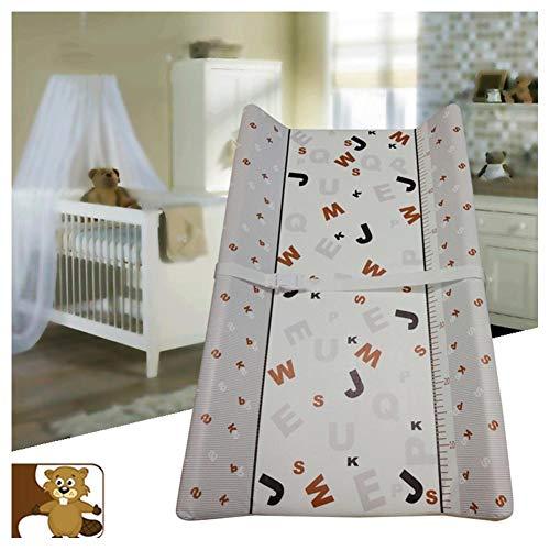 HBIAO Matelas Plan à Langer pour bébé, Protection de l'environnement Safety Oil Dirt Layer Diaper Table Lamp Cotton Soft Fournitures pour mères et Enfants,C