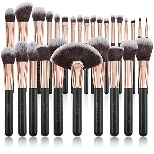Docolor - Juego de brochas de maquillaje profesional, 28 piezas, brochas de...