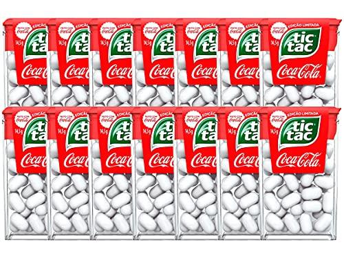 Kit 14 Tic Tac Pastilhas Sabor Coca Cola Edição Especial 16g