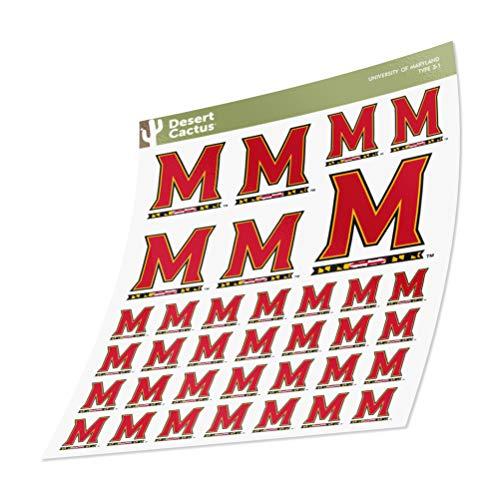 University of Maryland Terrapins UMD Terps Sticker Vinyl Decal Laptop Water Bottle Car Scrapbook (Sheet Type 3)