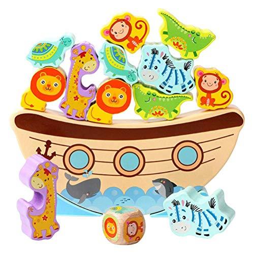 Kylewo Jeu d'équilibrage en Bois, Jeu éducatif, Petite Arche équilibrée par Pied, Jeu d'équilibrage Animalier en Bois Jouet empilable Motorik Toy pour Enfants à partir de 2 Ans