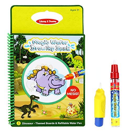 Rangebow, libro da disegnare con penna magica ad acqua, riutilizzabile, per bambini di 2-3 anni