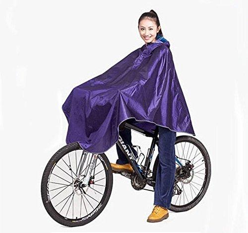 Poncho impermeable para hombre, para ciclismo, bicicleta, impermeable, impermeable, resistente al viento, con capucha, para la lluvia y la movilidad, color morado