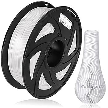 CooBeen PLA 3D Printer Filament 1.75mm Upgrade PLA Filament Bundle 1kg Spool  2.2lbs  Standard Dimensional Accuracy +/- 0.02 mm Fit FDM Printer  Pack of 1/ Pure White
