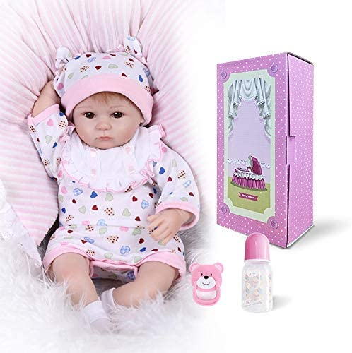 Realistic Reborn Baby Dolls Girl Handmade Soft Challenge the lowest price Inch 18 Vinyl New Shipping Free Sil