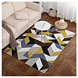 GUOCU Alfombra Nordica Sala De Estar Diseñador Alfombra Geometrica Moderno Diseño Alfombra Interior Exterior Varios Patrones Y Tamaños,Vistoso9,200x300cm