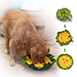 FAT CHAI & MARK Snuffle Mat for Dogs Adjustable Pet Slow Feeding Bowl Interactive Treat Enrichment Toy for Indoor Nosework Training and Stress Relief