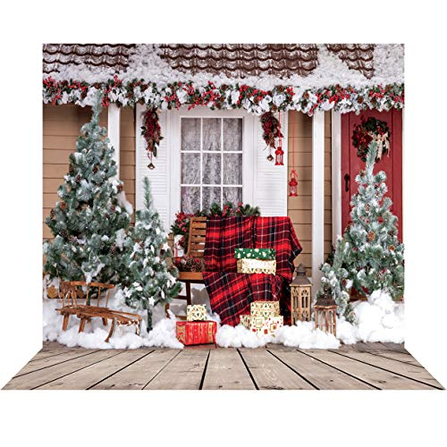 SJOLOON 10x10ft Christmas Backdrop Christmas Backdrops for Photography Xmas Photo Backdrops Vinyl Background Studio Prop 10280