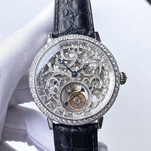 SHOUTAOB Reloj S para hombre con mano de diamante RZTZDM (color: plata)