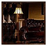 Yaoqshu Lampara de pie Piso de Oro y Cobre Moda Accesorio de luz de la lámpara Fortuny estandarte Real Retro luz de pie clásica