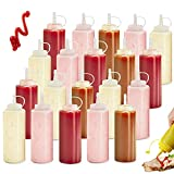Botella Salsa, 20 Pcs 4oz Plastico Botella de Salsa, Squeeze Bottle, Squeeze Botellas Salsa, para Condimentos, Salsa de Tomate, Mostaza, Mayonesa, Salsa Picante Y Aceite De Oliva