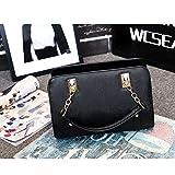 lianlian Shoulder Bags Bolso Crossbody Casual del Hombro de la PU de Las señoras de Bolso del Mensajero del Bolso (Negro) (Color : Black)