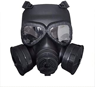 Rubber Respirator Full Seal Protection Double Air Filter Eye Protection Respiratory Protection Widely Used,Black