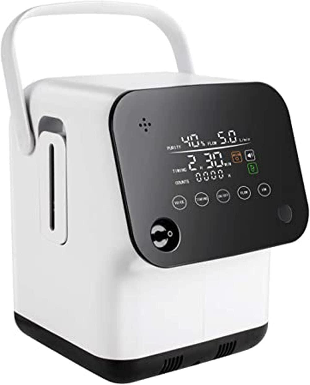 Concentrador De Oxígeno Máquina De Oxígeno Portátil para El Hogar 90% De Alta Pureza 1-7L, Personas De Mediana Edad Y Ancianos, Mujeres Embarazadas