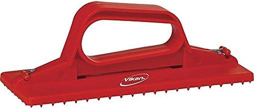 "Vikan 55104 Hand-Held Scrub Pad Holder, Polypropylene, 9"" L x 3-45/64"" W, Red"