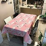 Generic Tischdecke Flamingo Pflanzen Drucken PVC Tischdecken Dekorative Wohnkultur Tischdecke wasserdichte Tischdecke Abdeckung