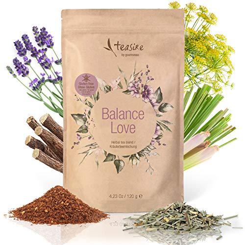Teasire Balance Love I 120g – Wohltuender Entspannungstee für die innere Ruhe und Balance I Loser Kräutertee mit Zitronengras, Lavendel und Süßholz
