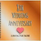 3dRose LLC db 154439 2 Memory Book, 12 by 12-Inch, 8th Bronze Celebrating