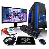Ensemble PC Gamer AWD-IT - Processeur 4 cœurs AMD A10 9700 • Écran LED 24'• Clavier et Souris Gamer • 16 Go • 1 to • Étui PC à LED • WiFi • Windows 10