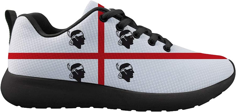 Owaheson Cushioning Sneaker Trail Running shoes Mens Womens Sardinia Flag