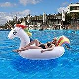 AuRiver Flotador Inflable para Piscina con Forma de Unicornio,Adecuado para Piscinas de Verano y...