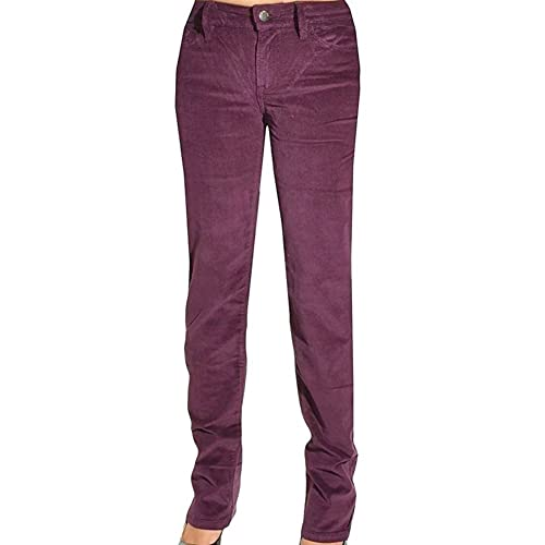 c3a543afc9cf5 Calvin Klein Jeans Womens Pants Power Stretch Corduroy Straight Leg Slim Fit