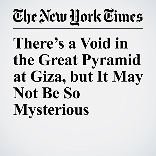 There's a Void in the Great Pyramid at Giza, but It May Not Be So Mysterious copertina