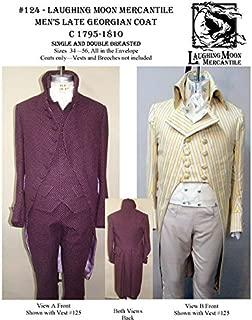 Men's Georgian Dress Coat Cutaway Tailcoat 1795-1810 Sewing Pattern #124 (Pattern Only)