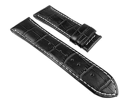 Jaguar Uhrenarmband Leder für Herrenuhr 26mm J644 / ID25255, Farbe:schwarz
