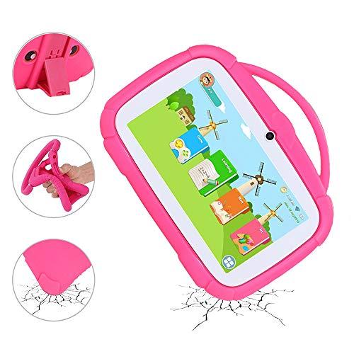 MIALX Tableta para Niños PC 7 Pulgadas Android 9.0, con WiFi, Bluetooth, Cámara Dual, Control Parental Y Software para Niños Preinstalado para Juegos Educativos, con Estuche A Prueba De Niños