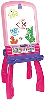 VTech – Magi Chevalet interactif 3 en 1 rose, tableau interactif enfant – Version FR