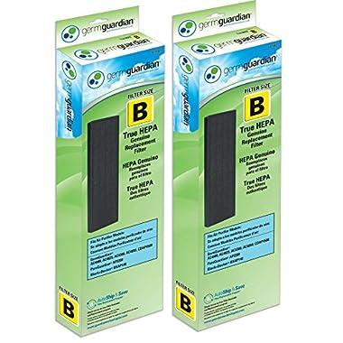 GermGuardian Air Purifier Filter FLT4825 GENUINE True HEPA Replacement Filter B for AC4300/AC4800/4900 Series Germ Guardian Air Purifiers, 2 Pack