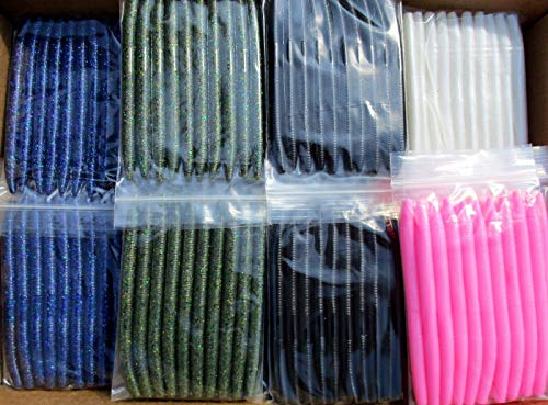 Z New 50pc Assortment 5.5' SENKOS Style Bass Fishing Lures, Worms Pro Soft Stickbaits.USA!