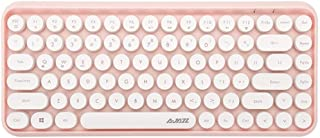 Ajazz 308I Tablet Mobile Phone Computer Household Office Wireless Keyboard Durable (Color : Pink)