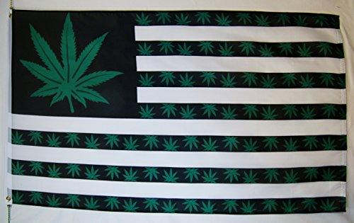 Nuge USA Marijuana 9 Point Leaf Flag 3' X 5' Indoor Outdoor Weed Banner