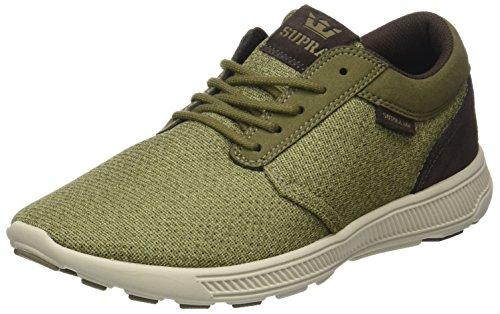 Supra Herren Hammer Run Sneaker, Grün (Olive-Bone), 42 EU