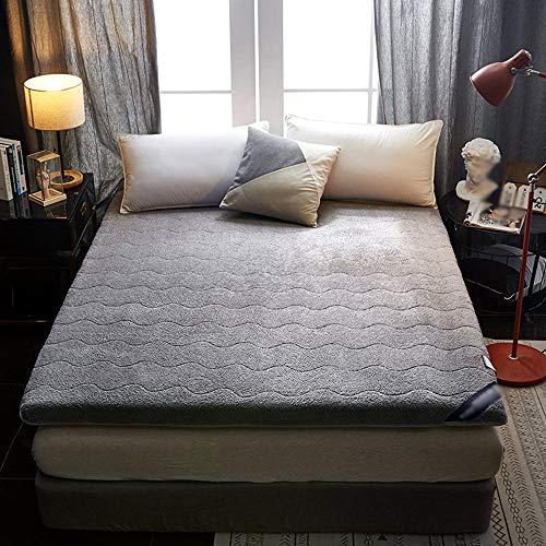 ZHONGXIN Mattress, Tatami Foldable Student single double dormitory Mattresses, Thick lamb velvet mattress (A,90x200cm)