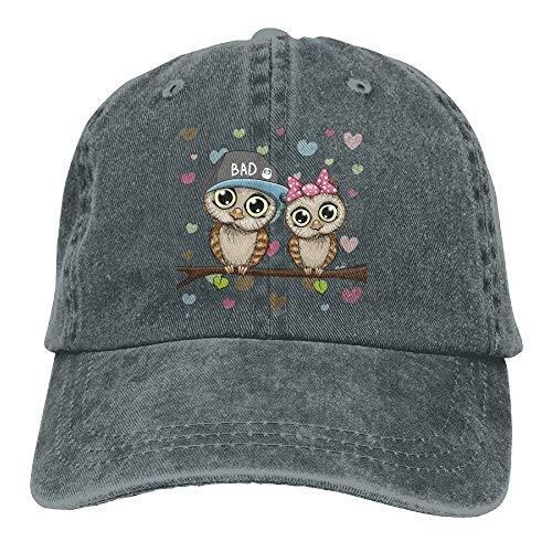 Ynjgqeo Lovers Owl Denim Baseball Caps Hat Adjustable Cotton Sport Cap for Men Women