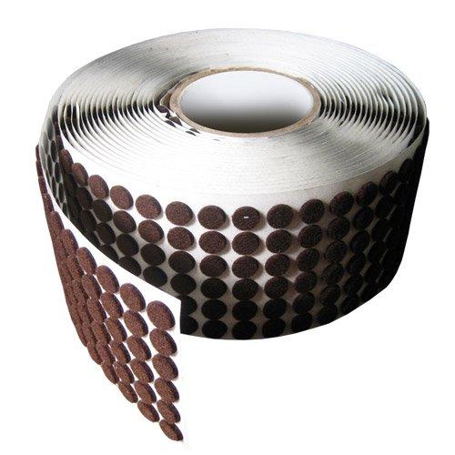 "Brown Adhesive Kiss Cut Felt Button Rolls: Medium-Duty - 1"" Dia, 1/16"" Thick (2120 Pcs)"