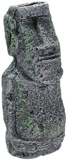 Resin Easter Island AHU Akivi Moai Monolith Sculpture Garden Statue Fish Tank Aquarium Garden Decorations Desktop Ornaments Small Medium Large