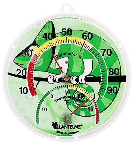 Lantelme Terrarium Kombi Thermometer Hygrometer Reptile Terrarien Temperatur Luftfeuchte Analog Bimetall 6137
