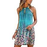 Gorday Dress for Women, Women Summer Casual Sleeveless Midi Dresses Halter Neck Sun Dresses for Beach Wedding Party