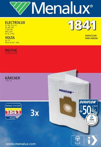 Menalux 1841 Sacchetto per aspirapolveri Electrolux e Nilfisk, confezione da 3