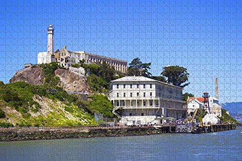 L'Isola di Alcatraz a San Francisco stati UNITI d'america 1000 Piece Jigsaw Puzzle Gioco di Opere d'arte per Adulti,Divertimento Grande Gioco di Puzzle Educativo Intellettuale Decompressione Diverten