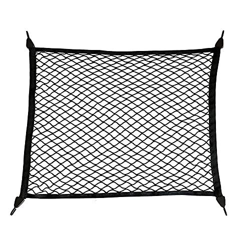 Gepäcknetz Auto für Aufbewahrung Autodach Kofferraumnetz Super Elastisch Kofferraum Organizer für einen sicheren Kofferraum I Universales Auto-Netz nutzbar a Gepäcknetz als Sicherheitsnetz 100*60cm